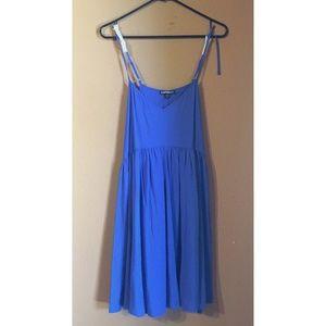 Express Blue Dress with Spaghetti Straps NWT